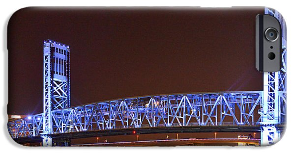 St. Johns River iPhone Cases - Main Street Bridge Jacksonville iPhone Case by Christine Till