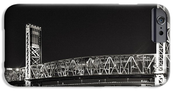 St. Johns River iPhone Cases - Main Street Bridge Jacksonville Florida iPhone Case by Christine Till