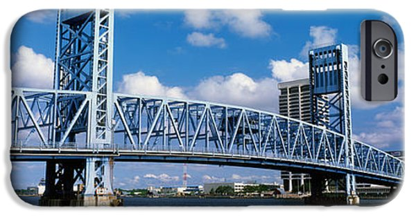 St. Johns River iPhone Cases - Main Street Bridge, Jacksonville iPhone Case by Panoramic Images