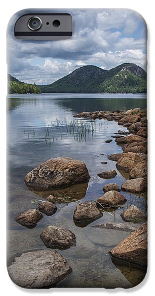 Jordan iPhone Cases - Maine Acadia Jordan Pond The Bubbles iPhone Case by Andy Gimino