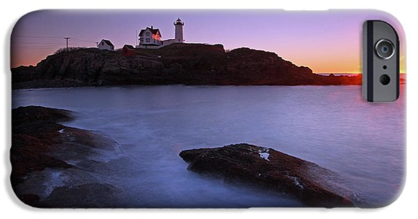 Cape Neddick Lighthouse iPhone Cases - Maine Cape Neddick Nubble Lighthouse iPhone Case by Juergen Roth