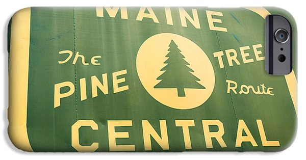 Maine iPhone Cases - Maine Central The Pine Tree Route iPhone Case by Edward Fielding