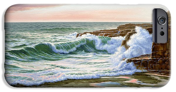 Maine Seascapes iPhone Cases - Maine Coast Morning iPhone Case by Paul Krapf