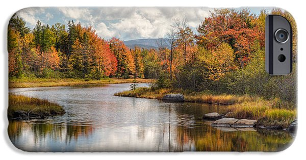 Fall Scenes iPhone Cases - Maine Fall Foliage Photograph - Acadia Bar Harbor Area iPhone Case by Bill Swindaman