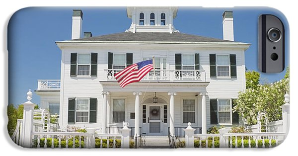 Augusta iPhone Cases - Maine Governers Mansion Blaine House Augusta iPhone Case by Keith Webber Jr