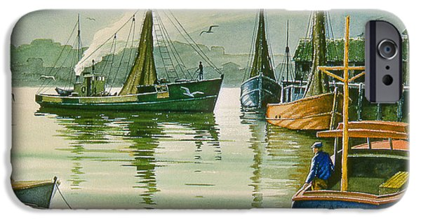 Maine Seascapes iPhone Cases - Maine Harbor iPhone Case by Paul Krapf