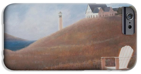 Maine iPhone Cases - Maine Landscape, 2012 Acrylic On Canvas iPhone Case by Lincoln Seligman