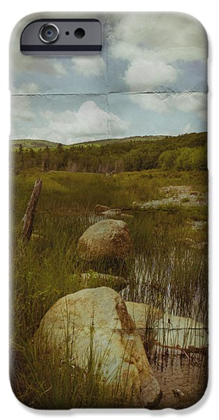 Rural Maine Roads iPhone Cases - Maine Landscape Acadia National Park clouds iPhone Case by Andy Gimino