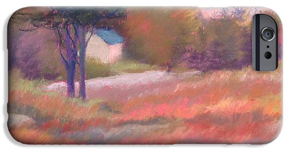 Maine Landscapes Paintings iPhone Cases - Maine iPhone Case by Marion Corbin Mayer