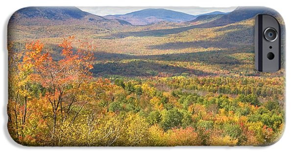 Maine Mountains iPhone Cases - Maine Mountains In Fall Mount Blue State Park  iPhone Case by Keith Webber Jr