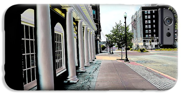 Lincoln iPhone Cases - City  - Maine Street Pillars - Luther Fine Art iPhone Case by Luther   Fine Art