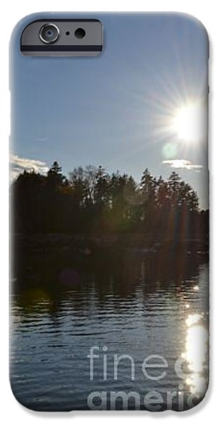 Maine Pyrography iPhone Cases - Maine SUnset iPhone Case by Susan Russo