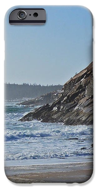 Maine Surfing Scene iPhone Case by Meandering Photography