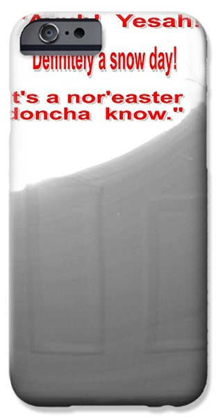 Winter In Maine iPhone Cases - Maine Winter Noreaster. Yesah iPhone Case by Patricia Sundik
