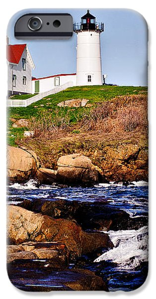 Maine's Nubble Light iPhone Case by Mitchell R Grosky