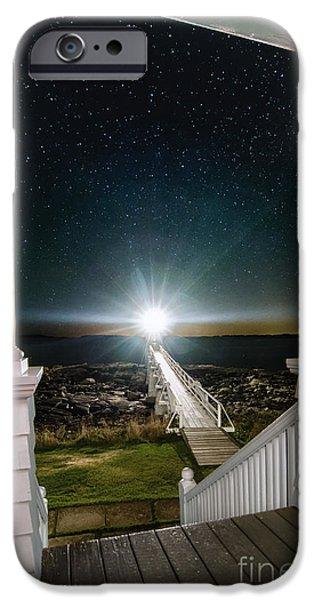 Mid-coast Maine iPhone Cases - Maines Premier Porch Light iPhone Case by Scott Thorp