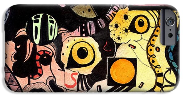 Women Together Mixed Media iPhone Cases - Mainly A Mystery iPhone Case by Helena Tiainen