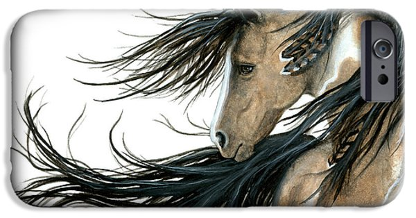 Pinto Paintings iPhone Cases - Majestic 89 iPhone Case by AmyLyn Bihrle