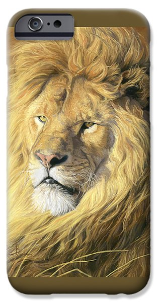 Lion iPhone Cases - Majestic - Detail iPhone Case by Lucie Bilodeau