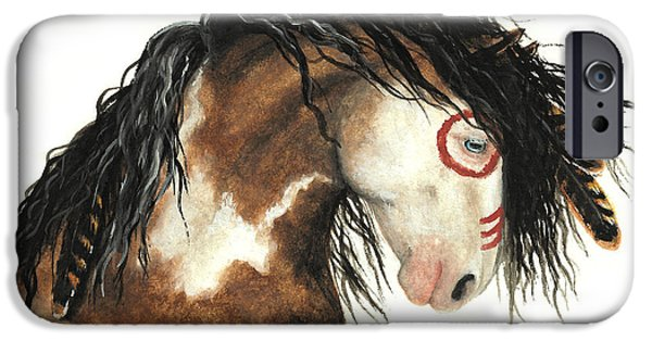 Majestic iPhone Cases - Majestic Horse Mustang 64 iPhone Case by AmyLyn Bihrle