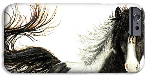 Mustang Horse iPhone Cases - Majestic Horse Series #76 iPhone Case by AmyLyn Bihrle