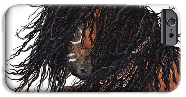 Mustang Horse iPhone Cases - Majestic Kiger Mustang Horse 28 iPhone Case by AmyLyn Bihrle