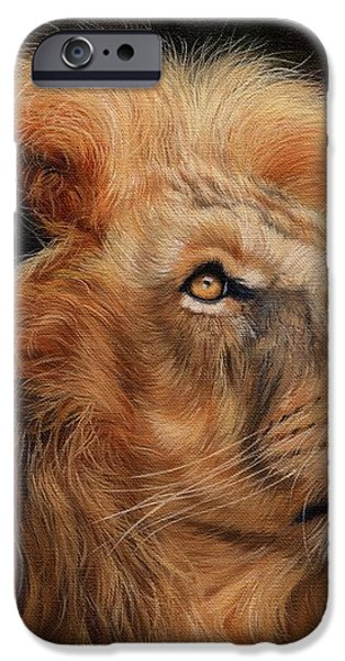 Majestic Lion iPhone Case by David Stribbling