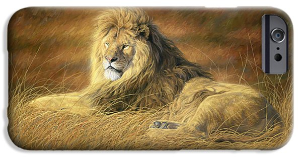 Lion iPhone Cases - Majestic iPhone Case by Lucie Bilodeau