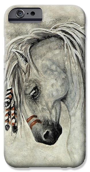 Majestic iPhone Cases - Majestic Mustang 30 iPhone Case by AmyLyn Bihrle