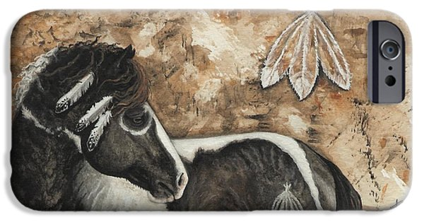 Art Of Horses iPhone Cases - Majestic Curly Horse #52 iPhone Case by AmyLyn Bihrle