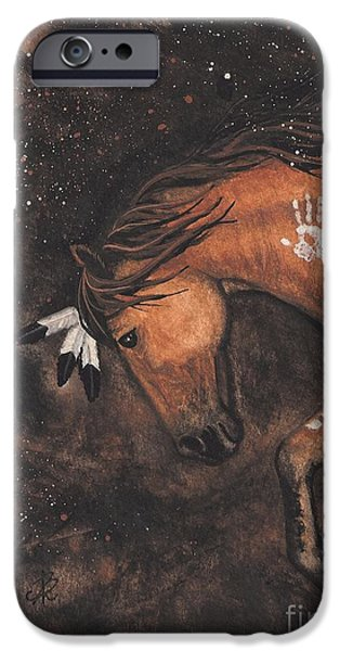 Majestic iPhone Cases - Majestic Mustang Series 40 iPhone Case by AmyLyn Bihrle