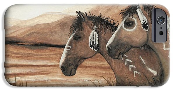 War iPhone Cases - Majestic Mustang Series 42 iPhone Case by AmyLyn Bihrle