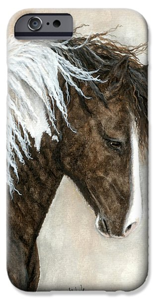 Majestic iPhone Cases - Majestic Pony 91 iPhone Case by AmyLyn Bihrle