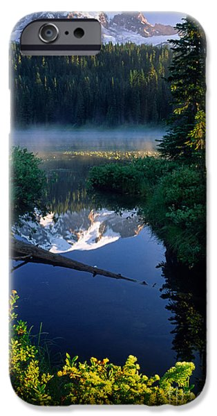 Drama iPhone Cases - Majestic Reflection iPhone Case by Inge Johnsson