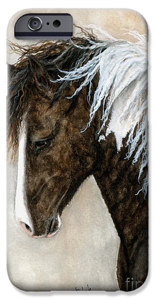 Pinto Paintings iPhone Cases - Majestic Series 91 iPhone Case by AmyLyn Bihrle
