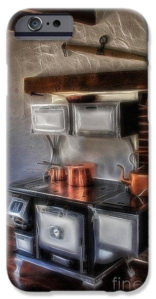 Old Fashioned iPhone Cases - Majestic Stove iPhone Case by Susan Candelario