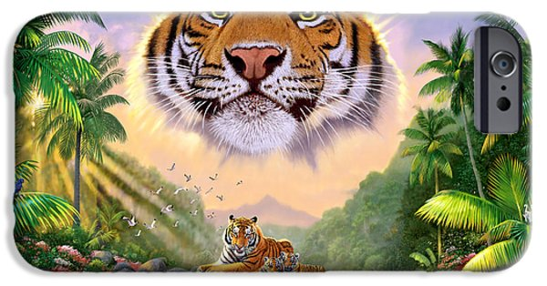 Young iPhone Cases - Majestic Tiger iPhone Case by Chris Heitt