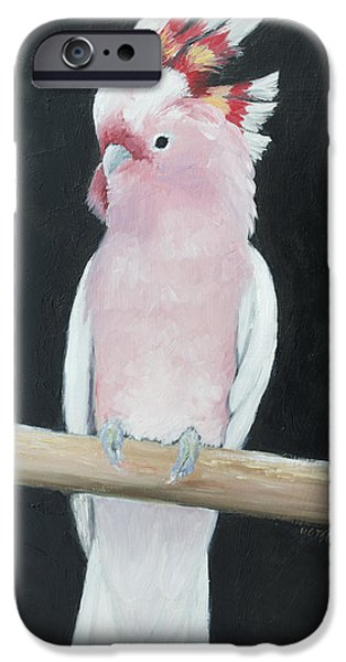 Cockatoo iPhone Cases - Major Mitchell Cockatoo iPhone Case by Jan Matson