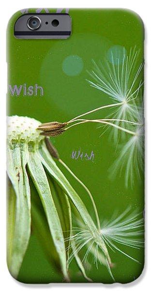 Make a Wish Card iPhone Case by Lisa Knechtel