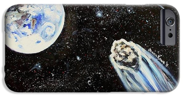 Outer Space Paintings iPhone Cases - Make a Wish iPhone Case by Shana Rowe