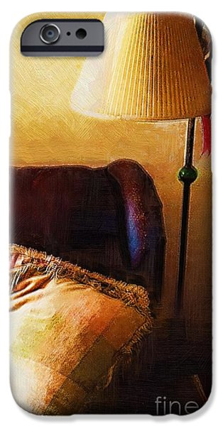 Furniture iPhone Cases - Make Yourself at Home iPhone Case by RC deWinter
