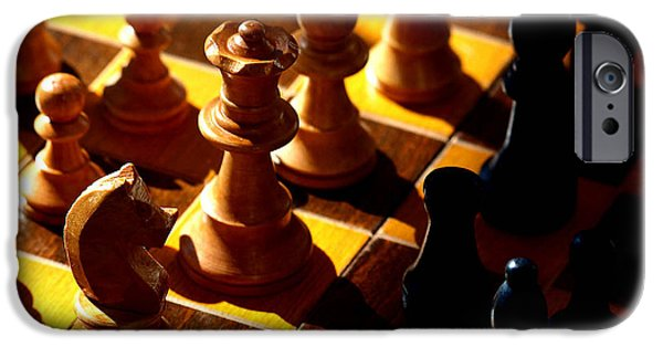Chess Queen iPhone Cases - Making a Move iPhone Case by Camille Lopez