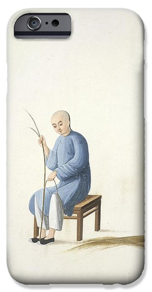 Matting iPhone Cases - Making Bamboo Mats, 19th-century China iPhone Case by British Library