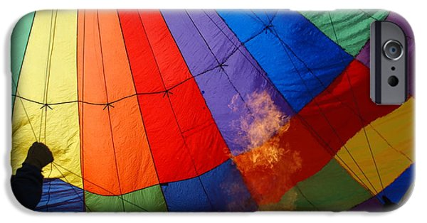 Hot Air Balloon iPhone Cases - Making the air hot iPhone Case by Ron Roberts