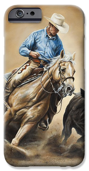 Cowboy iPhone Cases - Making the Cut iPhone Case by Kim Lockman
