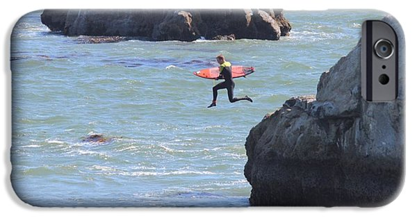 Steamer Lane iPhone Cases - Making the leap iPhone Case by Robert Phelan