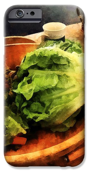 Making Waldorf Salad iPhone Case by Susan Savad