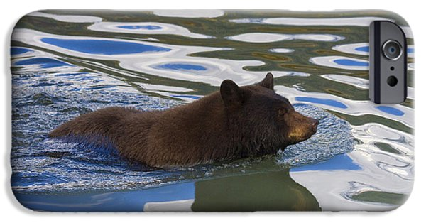 Black Bear iPhone Cases - Making Waves iPhone Case by Mike  Dawson