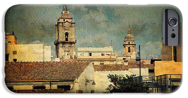 Malaga iPhone Cases - Malaga. Old Town iPhone Case by Jenny Rainbow