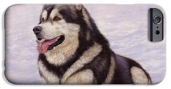 Best Sellers -  - Husky iPhone Cases - Malamute iPhone Case by David Stribbling